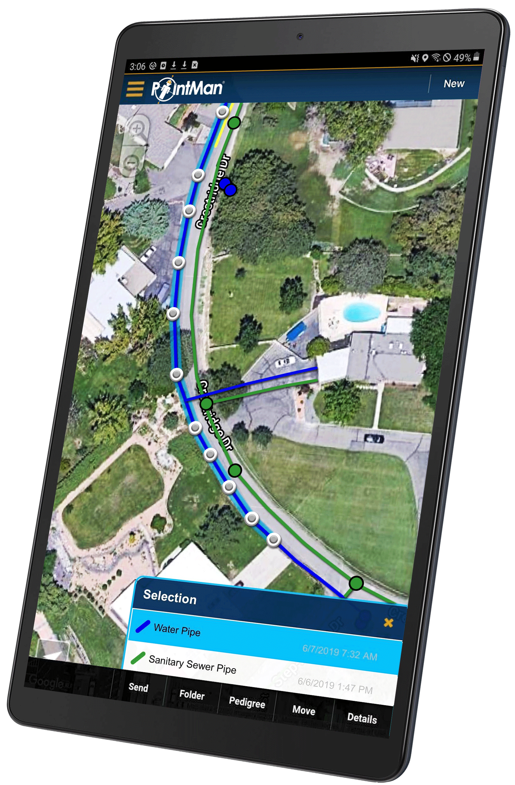 PointMan Utility Locating & Mapping App