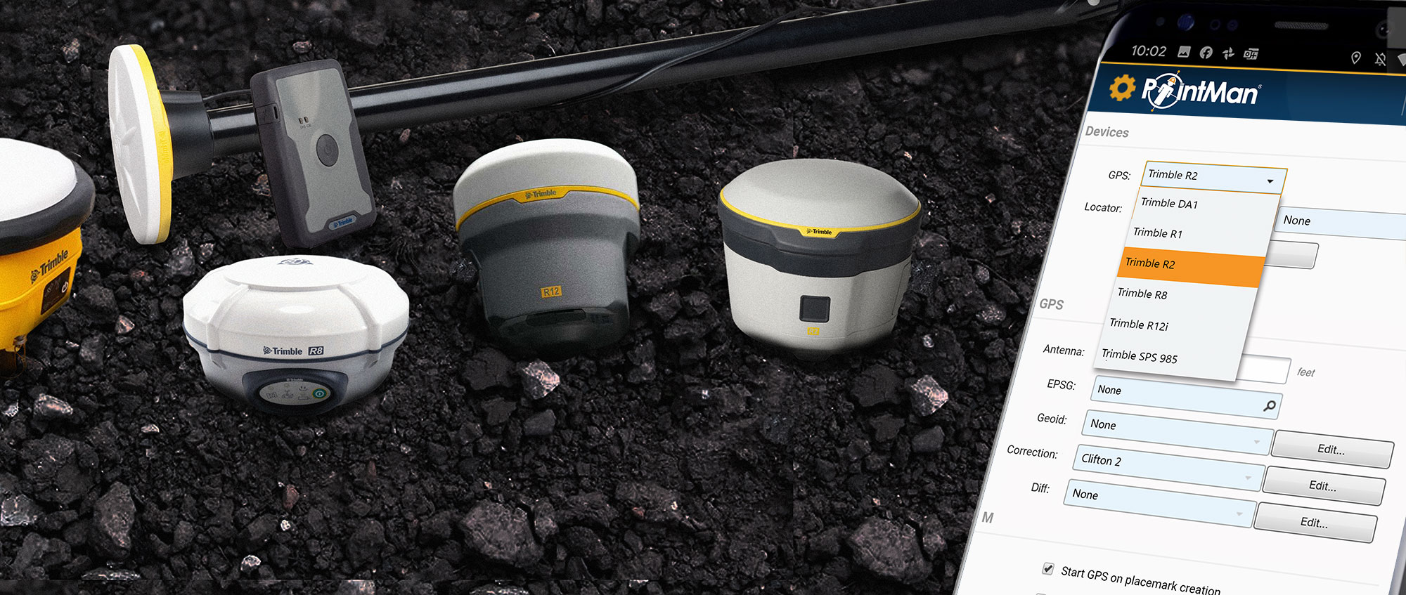 Pair a locator and GPS unit with PointMan at the same time!